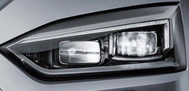 2017 Audi A5 Coupe'nin Farlar� G�r�nd�