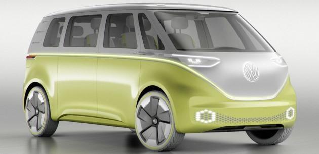 2017 Detroit'de Volkswagen I.D. Buzz konseptini tanıtıyor