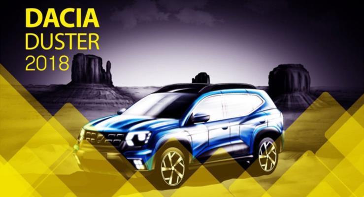 2018 Dacia Duster (2018 Renault Duster) için dijital çizim