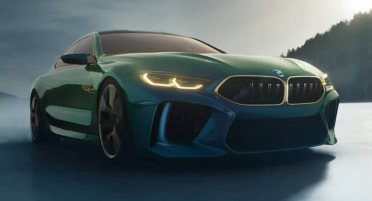 BMW M8 Gran Coupe konseptinden yeni video