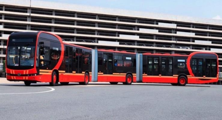Çin'den dünyanın en uzun elektrikli otobüsü!
