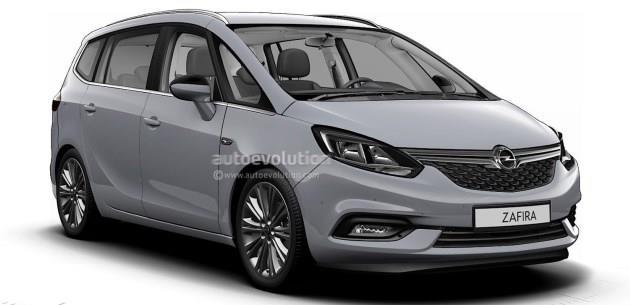 G�ncellenen 2017 Opel Zafira�dan �lk Foto�raflar