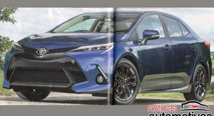Japonya Da 2019 Toyota Corolla Icin Dijital Cizim Yayinlandi