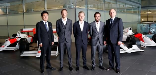 McLaren-Honda ekibi pilotlar� Alonsu ve Button oldu