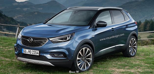 Opel'in Grandland X SUV'si için ilk dijital çizim