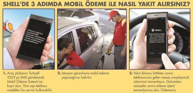 Shell ve Turkcell i�birli�i; SMS ile yak�t al�m�