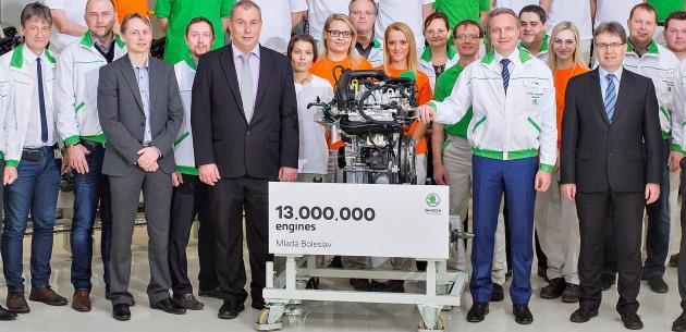 Skoda 13 milyonuncu motorunu üretti