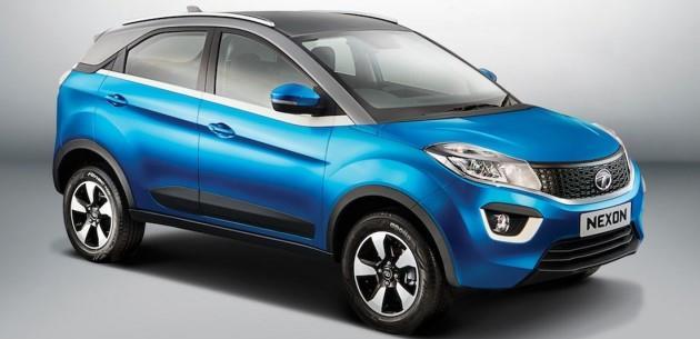 Tata Nexon Crossover Auto Expo'da Sergileniyor