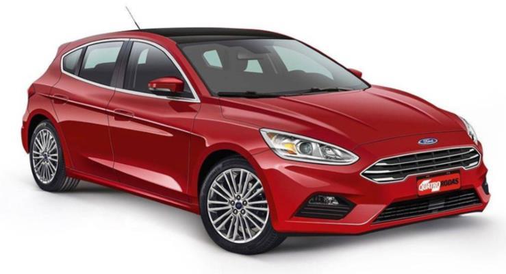 Yeni nesil 2018 Ford Focus için dijital çizim